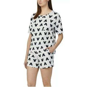 Disney Mickey Mouse Pajama Shorts Set Large